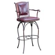 Artisan Home Furniture 24'' Swivel Bar Stool with Cushion