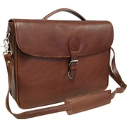 AmeriLeather Montana Leather Laptop Executive Briefcase; Brown