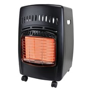 Dyna-Glo 18,000 BTU Portable Propane Radiant Compact Heater w/ Locking Casters and Piezo Ignition