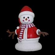 Queens of Christmas 3' Girl Snowman Statue