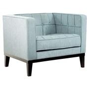 Armen Living Urbanity Roxbury Tufted Arm Chair; Spa Blue