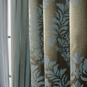 Best Home Fashion, Inc. Wide Width Damask Jacquard Grommet Curtain Panels (Set of 2); Turquoise