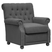 Wholesale Interiors Baxton Studio Chair; Dark Gray Linen