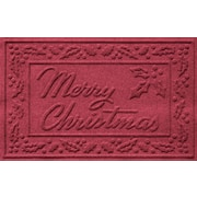 Bungalow Flooring Aqua Shield Merry Christmas Doormat; Red