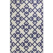 Bashian Rugs Rockport Ivory/Blue Area Rug; 5' x 7'6''