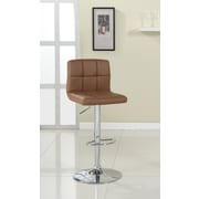 Hokku Designs Pure Adjustable Height Swivel Bar Stool with Cushion; Camel