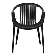 Gold Sparrow Rowan Stackable Arm Chair (Set of 2) (Set of 2); Black