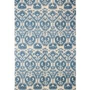 Bashian Rugs Rajapur Ivory & Blue Area Rug; 7' x 9'