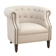 Jofran Grace Tufted Arm Chair; Natural