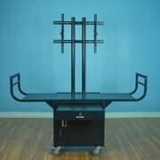 VTI Large Flat Panel Cabinet AV Cart for 65'' Monitor