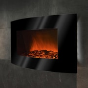 GoldenVantage 36'' Wall Mount Curved Glass Electric Fireplace