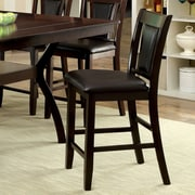Hokku Designs Bari 25.75'' Bar Stool with Cushion (Set of 2); Espresso