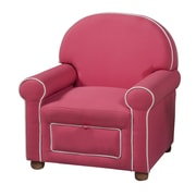 HomePop Kids Storage Arm Chair; Pink