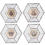 A&B Home Group, Inc 4 Piece Picture Framed Mirrored Wall Art Set (Set of 4)