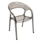 Florida Seating Pedrali Stacking Chair; Smoke Grey