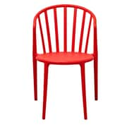 Gold Sparrow Stan Stackable Side Chair in Red (Set of 2)