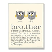 Stupell Industries The Kids Room Owl Brother Typography  Wall Plaque