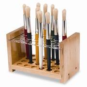 CREATIVITY STREET Brush Holder for 24 Brushes, Wood and Acrylic