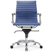 Meelano Vegan Leather Executive Office Chair; Blue