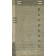 Momeni Gramercy Hand-Knotted Green Area Rug; 7'6'' x 9'6''