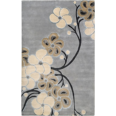 Smithsonian Rugs Heritage Gray Blue Area Rug; 2' x 3'