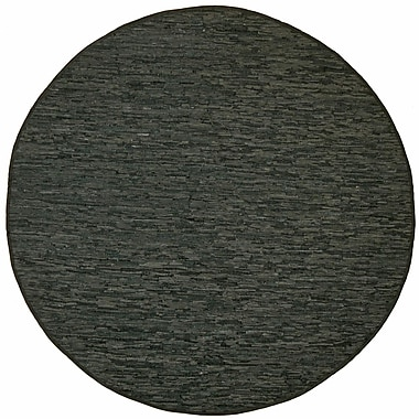 St. Croix Matador Leather Chindi Green Area Rug; Round 8'