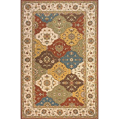 Momeni Persian Garden Red/Orange/Teal Area Rug; 3' x 5'