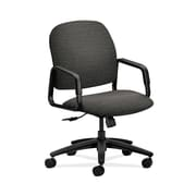 HON  HON4001AI10T Solutions Seating  Fabric-Upholstered High-Back Office/Computer Chair, Fixed Arms, Onyx