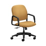 HON  HON4001NR26T Solutions Seating  High-Back Office/Computer Chair, Fixed Arms, Mustard Fabric