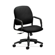 HON  HON4001NT10T Solutions Seating  High-Back Office/Computer Chair, Fixed Arms, Black Fabric