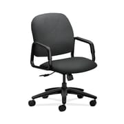 HON  HON4001NT19T Solutions Seating  Fabric-Upholstered High-Back Office/Computer Chair, Fixed Arms, Charcoal