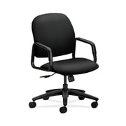 HON  HON4001UR10T Solutions Seating  Black Fabric High-Back Office/Computer Chair Fixed Arms