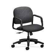 HON  HON4002NT19T Solutions Seating  Fabric-Upholstered Mid-Back Office/Computer Chair, Fixed Arms, Charcoal