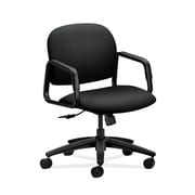 HON  Solutions Seating  HON4002UR10T Fabric Mid-Back Office/Computer Chair, Fixed Arms, Black