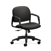 HON  HON4002WP39T Solutions Seating  Fabric-Upholstered Mid-Back Office/Computer Chair, Fixed Arms, Charcoal
