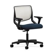HON  HONMT10FAB90 Motivate  ilira -Stretch Mesh Back Office/Computer Chair, Adjustable Arms, Onyx Shell, Blue Fabric