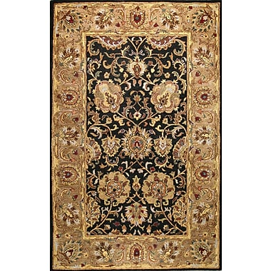 Bashian Rugs Essex Black Area Rug; 7'9'' x 9'9''