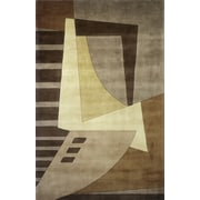 Momeni New Wave Light Brown Area Rug; 7'6'' x 9'6''
