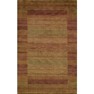 Momeni Gramercy Hand-Woven Rust/Light Green Area Rug; 3'6'' x 5'6''