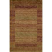 Momeni Gramercy Rust/Light Green Area Rug; 3'6'' x 5'6''