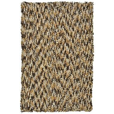 St. Croix Shagadelic Brown Twist Swirl Rug; 3' x 4'