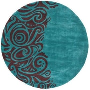 Momeni New Wave Turquoise Area Rug; Round 5'9''