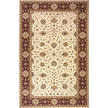 Momeni Persian Garden Ivory/Red Area Rug; 5' x 8'
