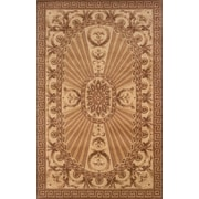 Momeni Harmony Light Brown Floral Area Rug; 3'6'' x 5'6''