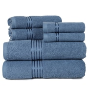 Lavish Home 100% Egyptian Cotton Hotel 6 Piece Towel Set - Blue
