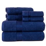 Lavish Home 100% Egyptian Cotton Hotel 6 Piece Towel Set - Navy