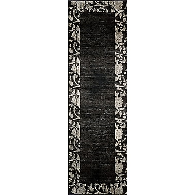 Momeni Dream Charcoal Area Rug; Runner 2'3'' x 7'6''