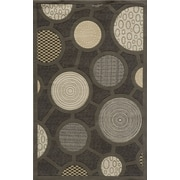 Momeni Elements Charcoal Circle Area Rug; Runner 2'6'' x 8'