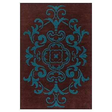 Chandra Venitian Brown/Blue Area Rug; 5' x 7'6''