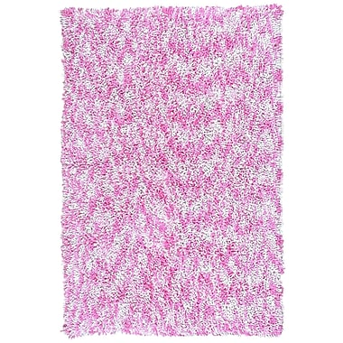 St. Croix Shagadelic Pink Twist Swirl Rug; 4' x 6'
